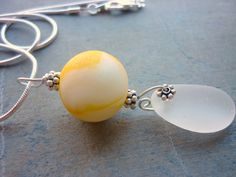 Yellow Sea Glass Marble