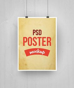 Free Paper Poster Mockup PSD (28.6 MB) | free-designs.net | #free #mockup #photoshop