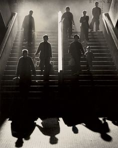 In love with Fan Ho's photographic eye .... love the steam & smoke,  back-lighting,  as well as the shadows...  Fan Ho