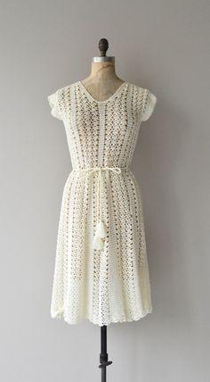dress cream crochet вязаное платье крючок