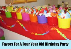Favors For A Four Year Old Birthday Party