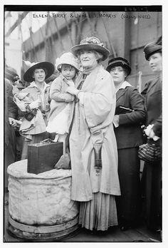 Ellen Terry and June E.T. Morris (Grand Niece) 1915