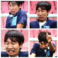 The expressions of Lee Kwang Soo on Running Man Korean Variety Shows, Korean Shows, Runing Man, Lee Kwangsoo, Running Man Korea, Kim Jong Kook, Kwang Soo, Man Lee, Cute Giraffe
