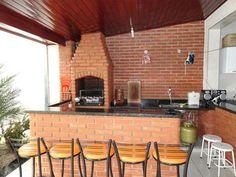 Backyard Kitchen, Backyard Patio, Future House, My House, Patio Bar, Barbacoa, Bbq Grill, Kitchen Backsplash, My Dream Home