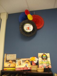 Classroom decor: Author's corner Peanuts gang style