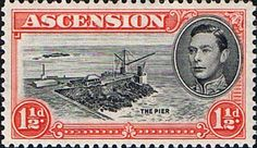 Ascension 1938 George VI SG 40b Fine Mint Scott 42 The Pier Other Ascension island stamps HERE