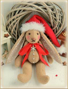Christmas Fabric stuffed Bunny soft rabbit зайчик кролик тряпичная мягкая игрушка заяц gifts cloth toy christmas decoration Soft Ornament