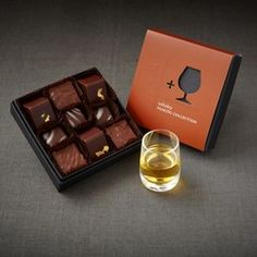 Whiskey Pairing Collection Chocolate Gifts, Chocolate Box, How To Make Chocolate, Chocolate Lovers, 30 Gifts, Gifts For Him, Unique Gifts, Best Gifts, Whiskey Gifts