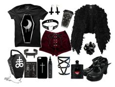 ✝killing me softly✝ by goth-dolly on Polyvore featuring McQ by Alexander McQueen, Killstar, Macabre Gadgets, Chicnova Fashion, Casetify, CARGO and Yves Saint Laurent