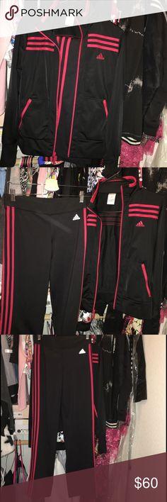 Adidas tracksuit!! Jacket and pants!! Perfect condition! Fits like a medium Adidas Pants Track Pants & Joggers
