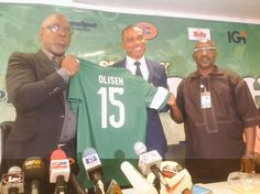 Whispers: Photos at the unveiling of Sunday Oliseh as Super ...