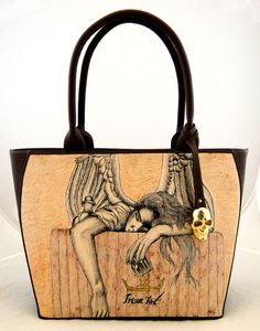 Handmade Tattoo Bag: Oval (Broken Angel)