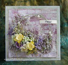 Kolejna porcja wielkanocnych kartek z kolekcji Provence z wykorzystaniem tekturek ze Scrapińca ...
