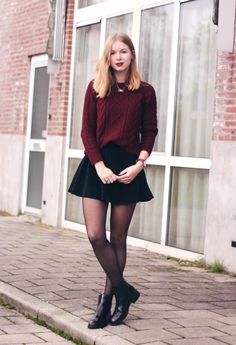 OUTFIT | Red Knit