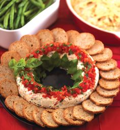 Antipasti Wreath. A festive way to toast the holiday season because, well, the appetizer is shaped like a wreath, and it's delicious. Find more delicious dish ideas @Kroger Co
