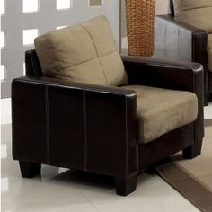 Olive Green Laverne chair perfect for lounging in your living room.   Furniture of America Laverne Chair CM6598C