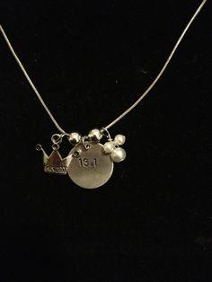 Disney Princess Half Marathon Inspired Necklace by RunnersBling