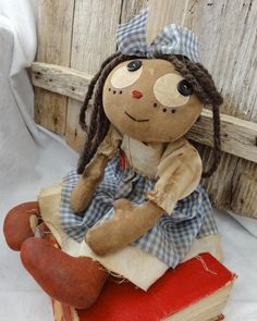 Primitive sot doll   dolls   Pinterest