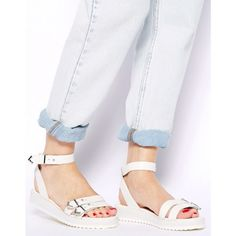 [PM EDITOR] Shellys London White Platform Sandals Shellys London White Platform Sandal with Ankle Straps and Silver tone buckle details. Brand New, Never Been Worn. No box. *cover photo Nordstrom Shellys London Shoes Sandals