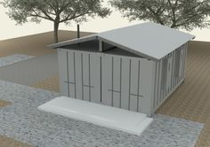 2x20-foot-container-house-v2  Exterior Closed