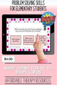 $4.00 · If you're looking for Boom cards for speech therapy to work on problem solving skills, these cards are just what you are looking for. This is a NO prep speech therapy activity: Buy now and you are ready to go! Find this and many more therapy resources for kids at Misty's Speech World! Buy now: to purchase this set of task cards, click on this pin, purchase and add this therapy resource to your speech therapy toolkit!