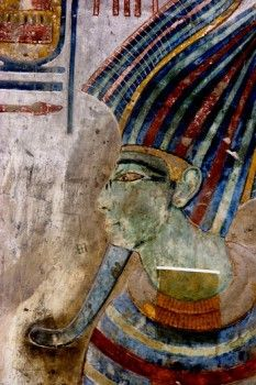 Mural paintings in the Tomb of Seti I. Valley of the Kings, Luxor West Bank. Egyp