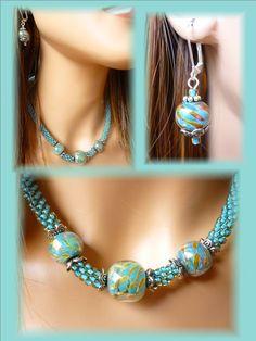 KN Necklace Lampwork Bead Set 4 - Sally Bead Jewelry