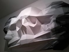 """Illusion: """"Folds"""" is a sculpture made from polypropylene by David Mesguich and Valentin Van der Meulen. Below: """"Border line,"""" made with epoxy resin by Mesguich. Photos © David Mesguich Link via Kym Davis. http://illusion.scene360.com/art/27251/inside-out/"""