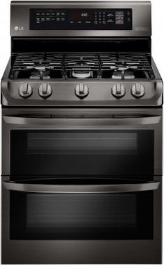 """LG LDG4315BD 30"""" Gas Freestanding Range with Sealed Burner, 4.3 cu. ft. Primary Oven Capacity, in Black Stainless Steel, 2016 Amazon Hot New Releases Ranges  #Appliances"""