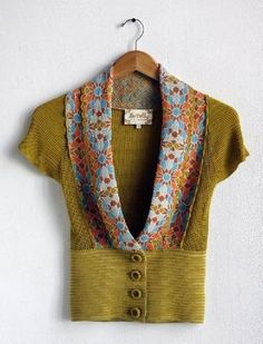 pretty short sleeve cardigan from lia molly