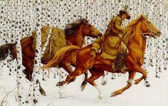 bev doolittle horses in birch trees