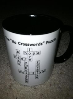 """A New take on an Old game...  """"The No Crosswords Puzzle""""- sure to bring joy into your life!"""