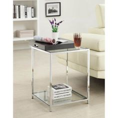 Convenience Concepts Palm Beach End Table with Tray, Multiple Finishes - Walmart.com