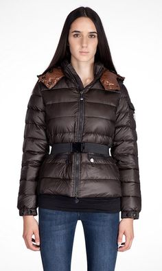 44ca5a3cdc8 Moncler Aliso Down Belted Donne Giacche Moncler Piumini 2016. Doudoune Hiver