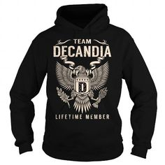 I Love Team DECANDIA Lifetime Member - Last Name, Surname T-Shirt Shirts & Tees