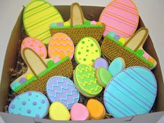 Classic and clean Easter egg [basket] cookies