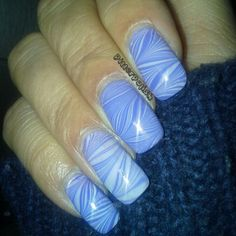 Water marble #notd playful purple and BIKINI both by pure. Ice