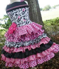 Design it Yourself Barbie Fabric Outfit Girl 2 3 4 5 6 7 8. $89.00, via Etsy.
