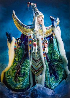Admire the stunning Siberian collection of fashion designer Avgustina Filippova Traditional Fashion, Traditional Outfits, Snow Elf, Symbolic Art, Local Legends, Become A Fashion Designer, Central Asia, Ethnic Fashion, People Around The World