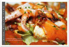 Calamaro ripieno di Cous-Cous su purea di Paprika dolce