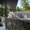 Low Rock wall leading to entrance of Tula House by Patkau Architects!