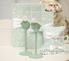 Бокалы Свадебные (декор ручной работы)