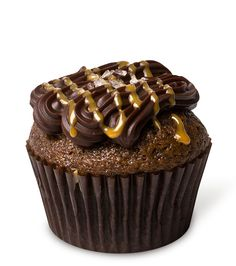 Caramel by the Sea – Our signature chocolate cupcake infused with house made salted caramel, topped with rich ganache and fleur de sel.