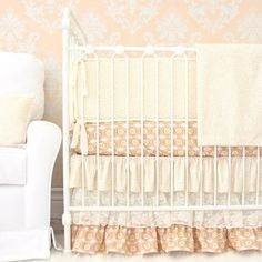 This adorable pink and peach vintage crib bedding collection is perfect for a sweet baby girl! Baby Girl Bedding Sets, Crib Sets, Crib Bedding Sets, Nursery Bedding, Girl Nursery, Themed Nursery, Vintage Bedding Set, Vintage Crib, Forest Crib Bedding