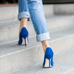 Suede BB Pumps by Manolo Blahnik :: I have some like these, they're lovely, but not Blahnik.