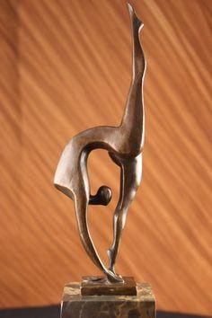 Modern Mid Century Abstract Bronze Ballerina Figure Signed Milo Sculpture Statue picclick.com