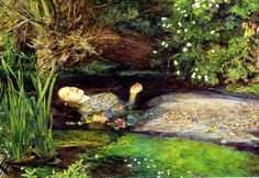 Ophelia Female Character In Hamlet Shakespeare Painting By John Millais Repro