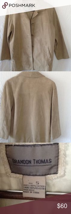Men's Leather Coat. Men's Leather Coat.  100% Leather. Lining Polyester.  Good condition. Brandon Thomas Jackets & Coats
