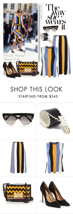 """""""Street Style - Milan Fashion Week Spring/Summer 2017"""" by emavera ❤ liked on Polyvore featuring Prism and Salvatore Ferragamo"""