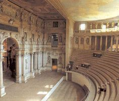 Vicenza, Italy --Teatro Olimpico Yes I stood on this stage to receive High School Dipolma Theatre Architecture, Renaissance Architecture, Art And Architecture, Vicenza Italy, Regions Of Europe, Andrea Palladio, Concert Hall, Places To Travel, Viajes